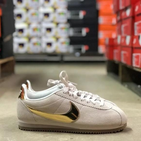NIKE CORTEZ SE WMNS Shoes CreamGold Multi Sizes